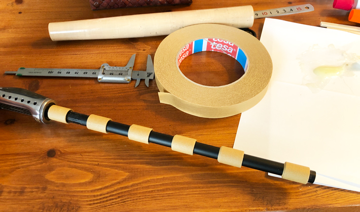 テサテープで厚み調整