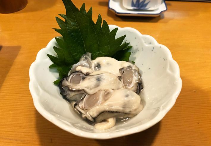 生牡蠣レモン@しんや寿司
