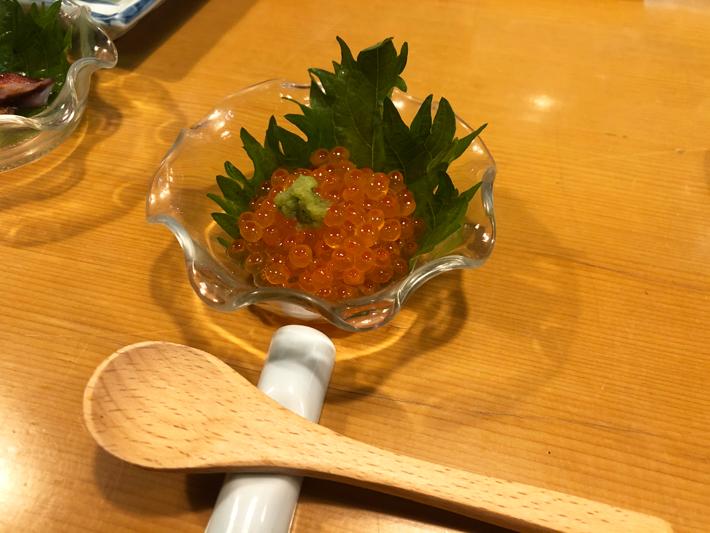 自家製イクラの醤油漬け@しんや寿司