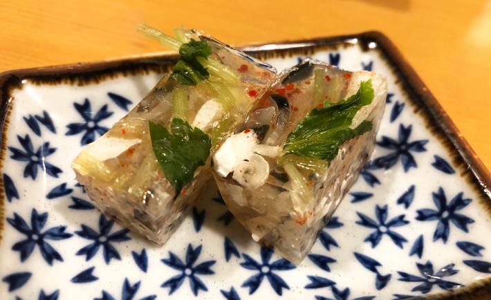 鉄皮の煮こごり@しんや寿司