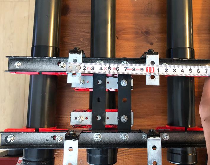 自作ロッドホルダーの寸法チェック