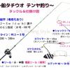2019年版 船タチウオテンヤ釣りタックル・仕掛け