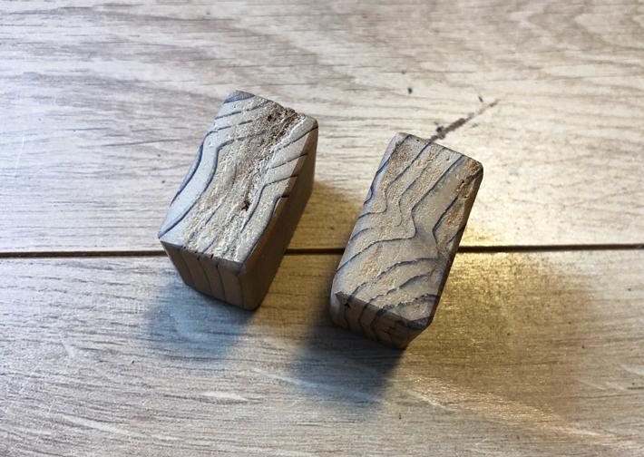 木材を適当な大きさにカットして面取り後