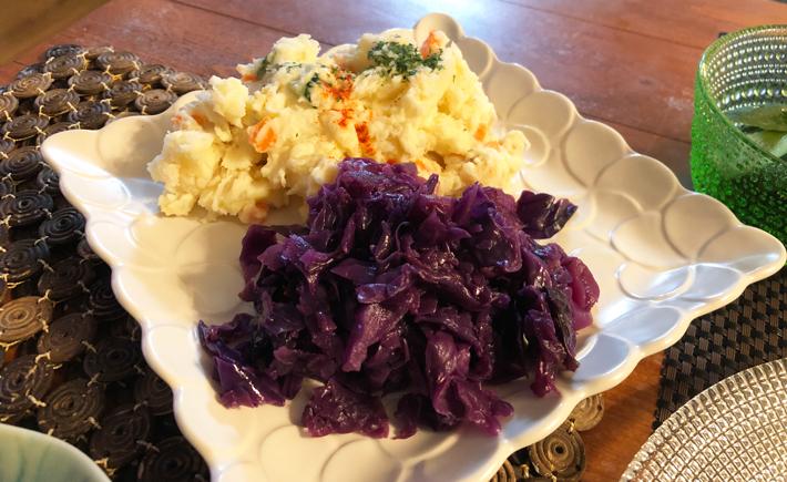 紫キャベツとリンゴのラペ&ポテサラ