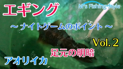 動画】陸っぱりエギング★アオリイカ釣り~ナイトゲームのポイント&アタリ&ヒットシーン~晩秋の紀中(和歌山)エリアにてVol.2 を公開しました
