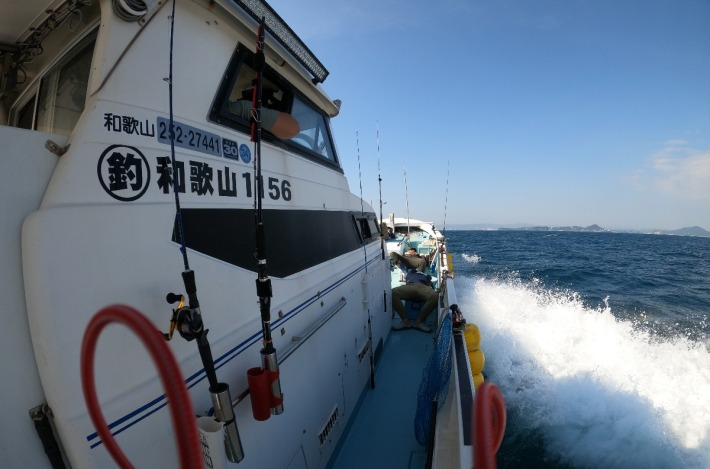 ロッドホルダー右舷側@勇栄丸