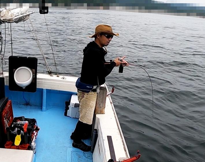 75cmの真鯛ヒット!@和歌山 さぶろう丸